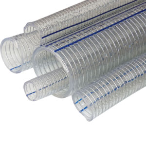 PVC適用範囲が広い螺線形の鋼線の補強されたホース/Transparet PVC管