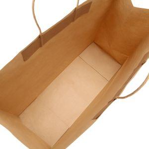 Le mercanzie della carta kraft del Brown Di acquisto della fabbrica trasportano i sacchetti al minuto con le maniglie della corda