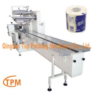 Tipo de flujo de tejido de papel higiénico de la máquina de embalaje