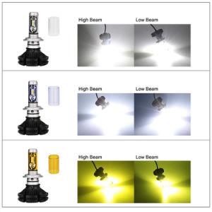 Fanless LED LEDの球根が付いている自動ライトX3 H7 50W 6000lm車LEDのヘッドライトキット6500k LEDヘッドランプ