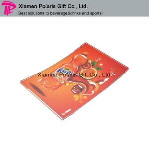 Rectángulo de cristal Customzied dinero a todo color de la bandeja con el Pie de imprenta