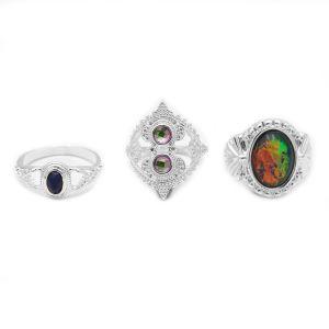 Femmes Hommes en alliage de bijoux de mode de jeu de 2 anneaux d'argent