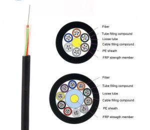 Cor GYFTY personalizado de baixa atenuação do cabo de fibra óptica