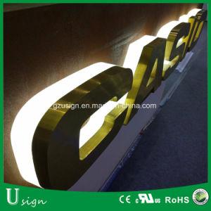 Iluminación de fondo LED 3D del canal de acero inoxidable carta