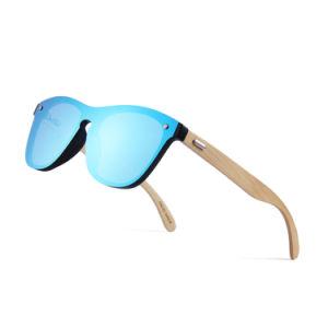 Una pieza de bambú de logotipo personalizado OEM de gafas de sol Gafas de sol para la Mujer 2019