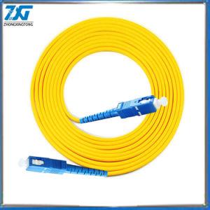 Sc Upc la Modalidad de 3m Cable de conexión de fibra óptica SC UPC 3m 2,0 mm o 3,0 mm de cable de fibra óptica FTTH