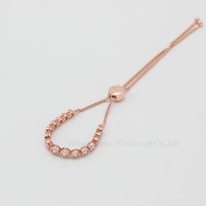 Mode Bracelet délicat charmant Bracelet bijoux de la chaîne réglable CZ