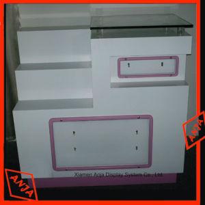 Compteur à affichage cosmétiques en bois cosmétique étagère d'affichage