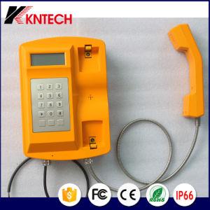Het nieuwe Waterdichte Toetsenbord knsp-18LCD Kntech van het Metaal van de Telefoon Op zwaar werk berekende Telefoon