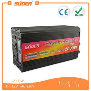 Suoer 2000W 12V DC para uso doméstico del inversor de corriente alterna (HDA-2000A)