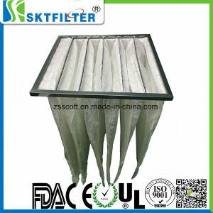 Material Nonwoven Filtro de aire Filtro de Mangas de bolsillo