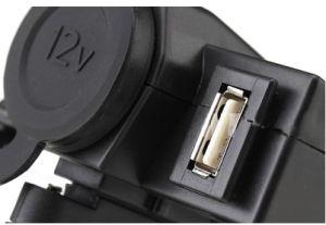 Abrazadera de manillar motos resistente al agua de alimentación Cargador de conjunto de toma de puerto