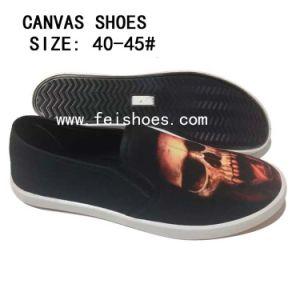 Nuevo estilo de los hombres 3dprinting patinan en los zapatos de lona (DL16122-6)