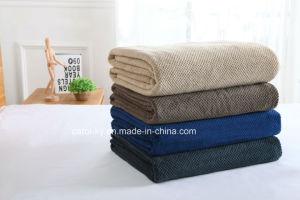 Microfiberの羊毛のジャカードパターン極度の柔らかい毛布