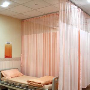 Hospital económica antibacteriano impermeável à prova de Cortina de partição cama hospitalar antibacteriana Cortinas de prevenção contra poeira da tela