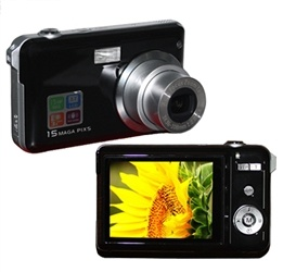 15.0MP +2.7 인치 LCD 디지탈 카메라