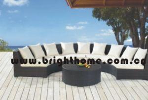 柳細工のテラスの屋外の家具のソファーの一定の柳細工の家具BgMt22