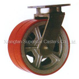 5 Ton 12 Polegadas Super Giratória Duplos para Operação Pesada Industrial de roda a roda do rodízio