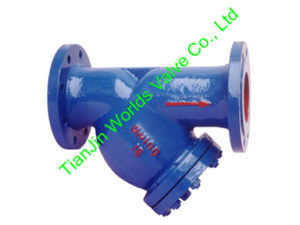 Фланцевый конец чугунные Y введите фильтр для воды (GL41-10/16)