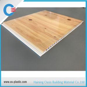 250*7,5 mm de PVC Panneau au plafond en bois Panneau mural en PVC d'estampage à chaud