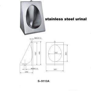 Rostfreier Wand-Gehangener Urinal