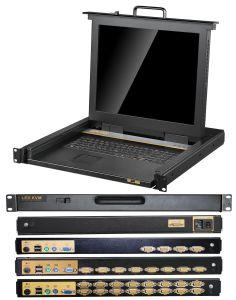 8 ports de commutateur KVM de qualité HD pour la salle des serveurs