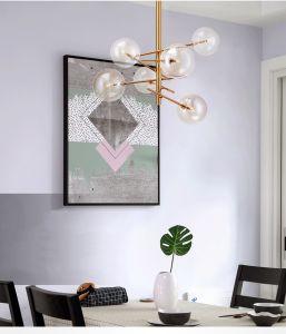 Venda a quente projeto casa moderna iluminação LED lustre de vidro