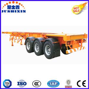 20FT/40FT/45pieds Squelette 3essieux/châssis squelettique utilitaire/camion tracteur utilitaire Cargo conteneur semi-remorque