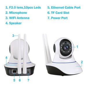 無線WiFi IPの保安用カメラ960p 1.3MPの屋内ホーム監視の赤ん坊ペットモニタ