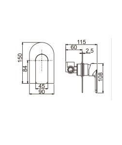 Heißes Verkaufs-Wasserzeichen-Messingchrom-Dusche-Mischer (AE34034YC)