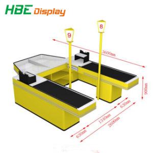 新しいデザイン倍は電気自動キャッシャーチェックアウト・カウンター味方した