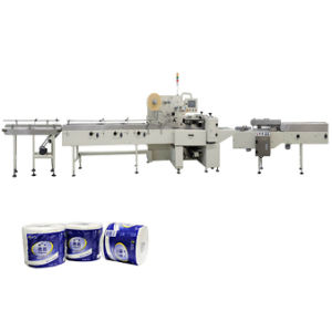 Doppia macchina avvolgitrice di carta della macchina per l'imballaggio delle merci del rullo di toletta
