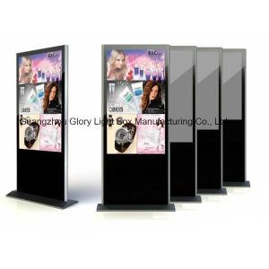 광고 매체 전시에 있는 55inch LCD 디지털 널