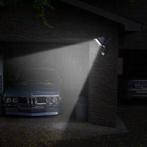 2018 Newsky Sensor de movimiento de energía garaje exterior LED de luz solar de seguridad