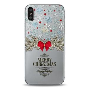 Regalo de navidad impresos personalizados para el caso del teléfono iPhone X claro caso de TPU Bumper tapa móvil para iPhone X caso Ypf75