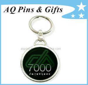 Zubehör-preiswerter Metalschlüsselring, Andenken-Herausforderungs-Metalldecklack-Schlüsselring (039)