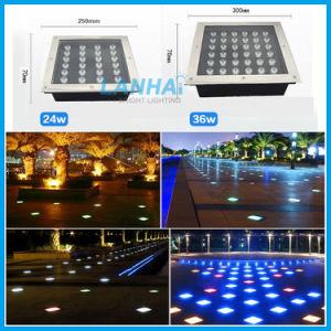 3W Garten-Lampen-Quadrat begrabenes Scheinwerfer-Tiefbaulicht der Leistungs-LED