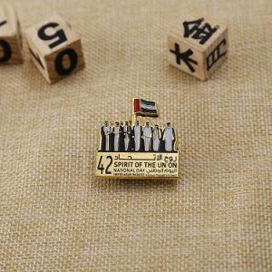 La Insignia de Oro Plata metálica personalizada para EMIRATOS ÁRABES UNIDOS