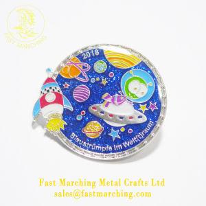 주문 도매 고리 금속 Pin 기장을 인쇄하는 소형 격판덮개 단추