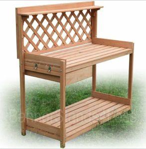 Wood Planter Potting Bench Outdoor Garden