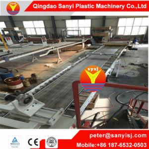 Carte SPC en plastique des revêtements de sol PVC Extrusion Machine/carrelage au sol de l'extrudeuse