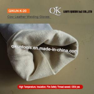 K-18 оранжевый серый рабочей безопасности полного коровы Split кожаные перчатки сварки