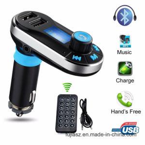 Bt66 Voiture Lecteur MP3 transmetteur FM sans fil Bluetooth deux ports USB Kit chargeur de voiture LCD SD MP3/MP4 Player avec un chargeur de voiture