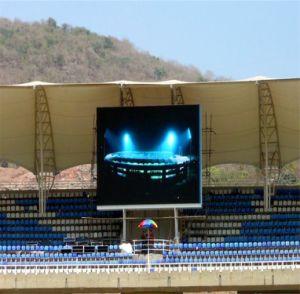 Affichage numérique DEL permanent Unipole P10 pour la publicité de plein air