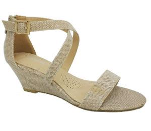 2020 womens Cross cheville Strappy sandales talons bas Chaussures de filtre en coin