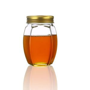 500g Hexagon Glass Jar Honey Glass Packaging Jar