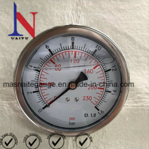 圧力計0-16棒4  Dia Ss 1/2 後部接続