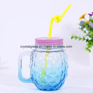 Breite kleine trinkende Glasflasche des Mund-500ml mit Griff