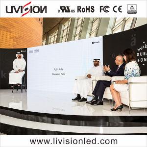 Palco de eventos no interior de parede LED de vídeo de alta qualidade do Ecrã P4.81mm tela LED de vídeo para conferências