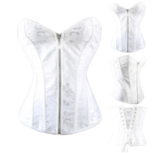 Vestido de Novia Blanco Bridal Corset con Crystal